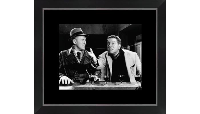 Tableau cinéma Bourvil & Jean Gabin...
